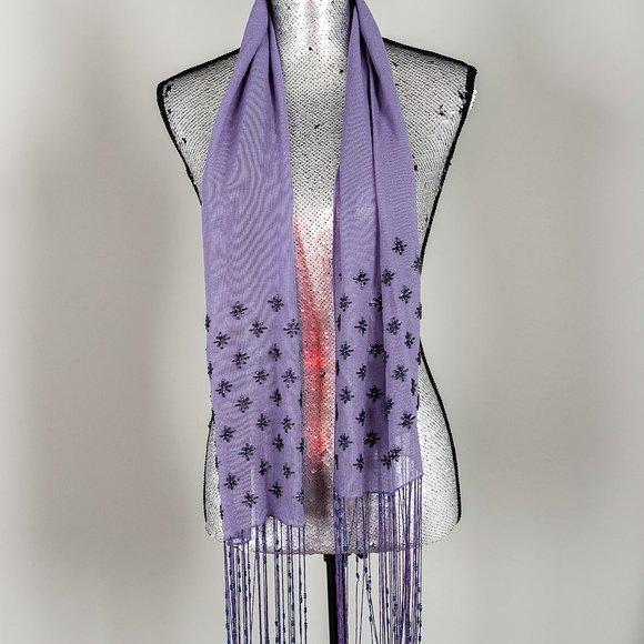 NWOT Awear beaded scarf